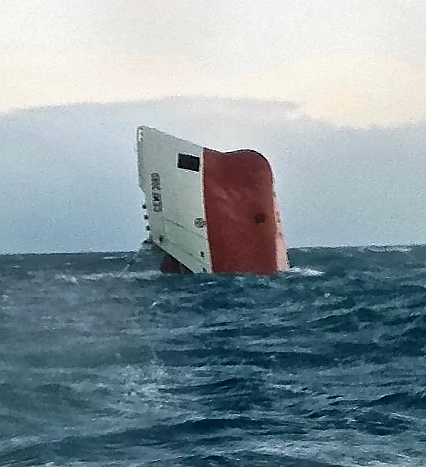 The Cemfjord was tragically spotted overturned by a passing ferry
