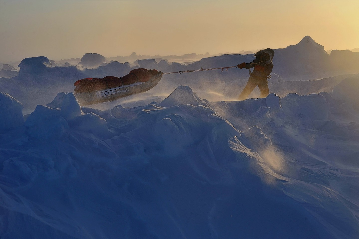 Charlie Paton in the North Pole on a previous expedition