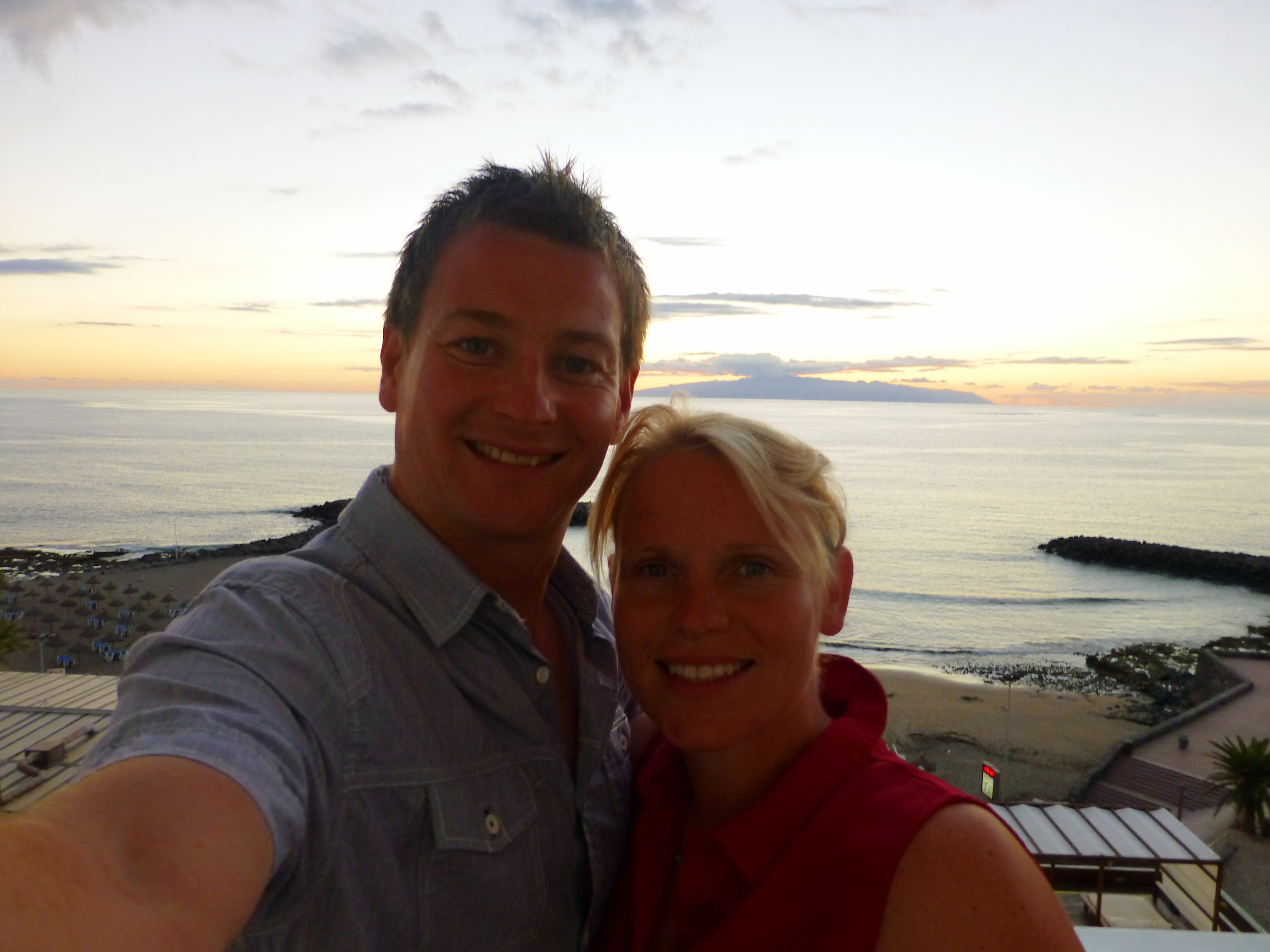 Chris Hutchon and his wife Kirstine in Tenerife last year