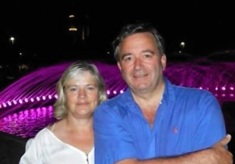 Claire and Robin Maitland prior to his illness.
