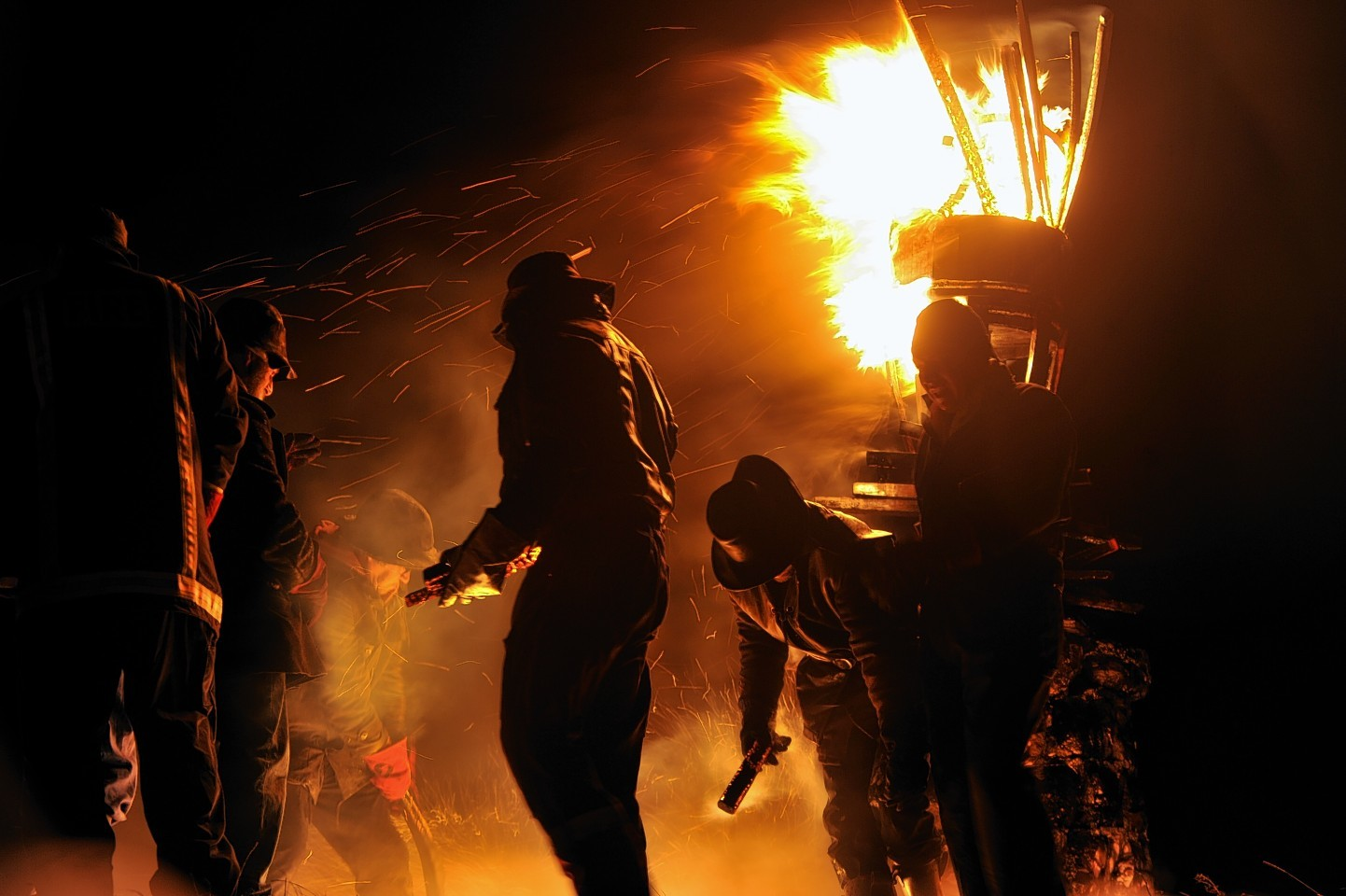 The Burning of the Clavie customarily takes place every January 11