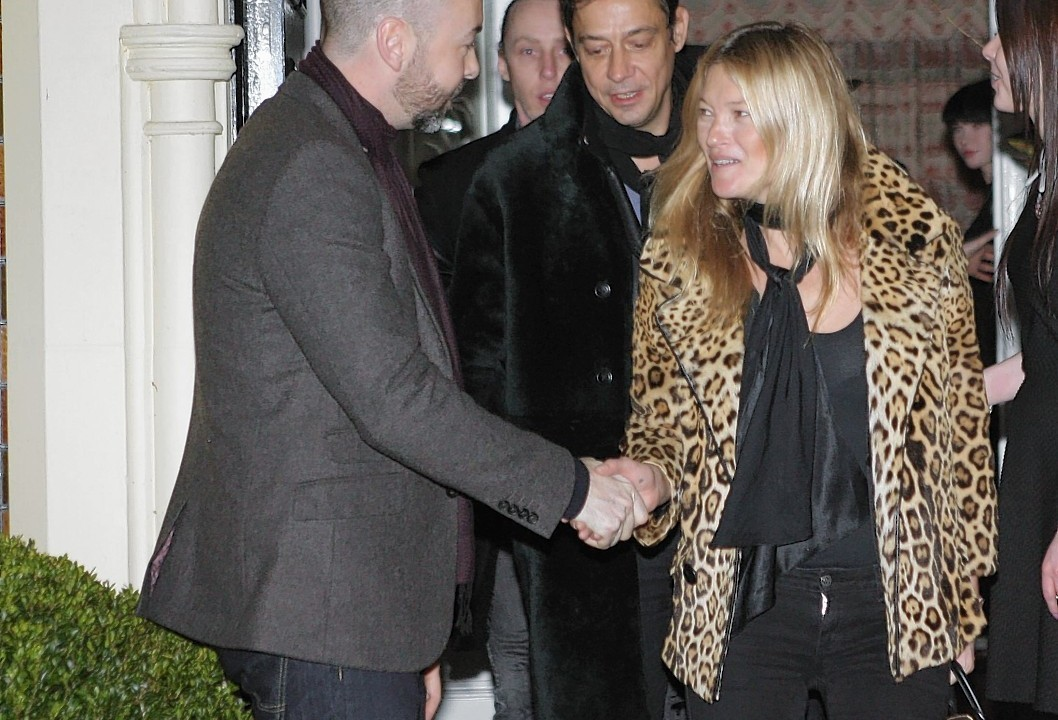Kate Moss was one of several celebrities at the party