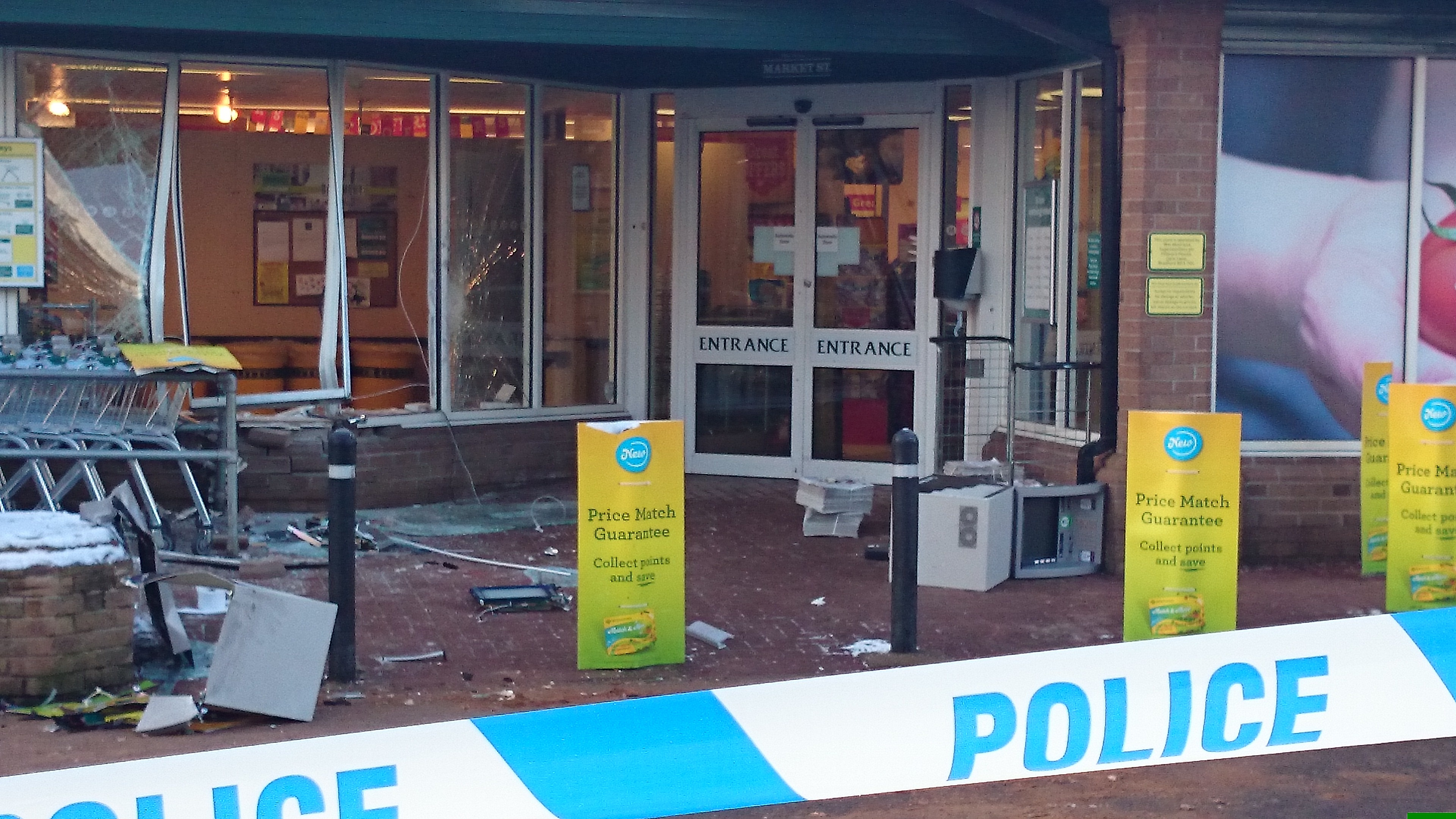 The ATM theft at Morrisons in Banchory