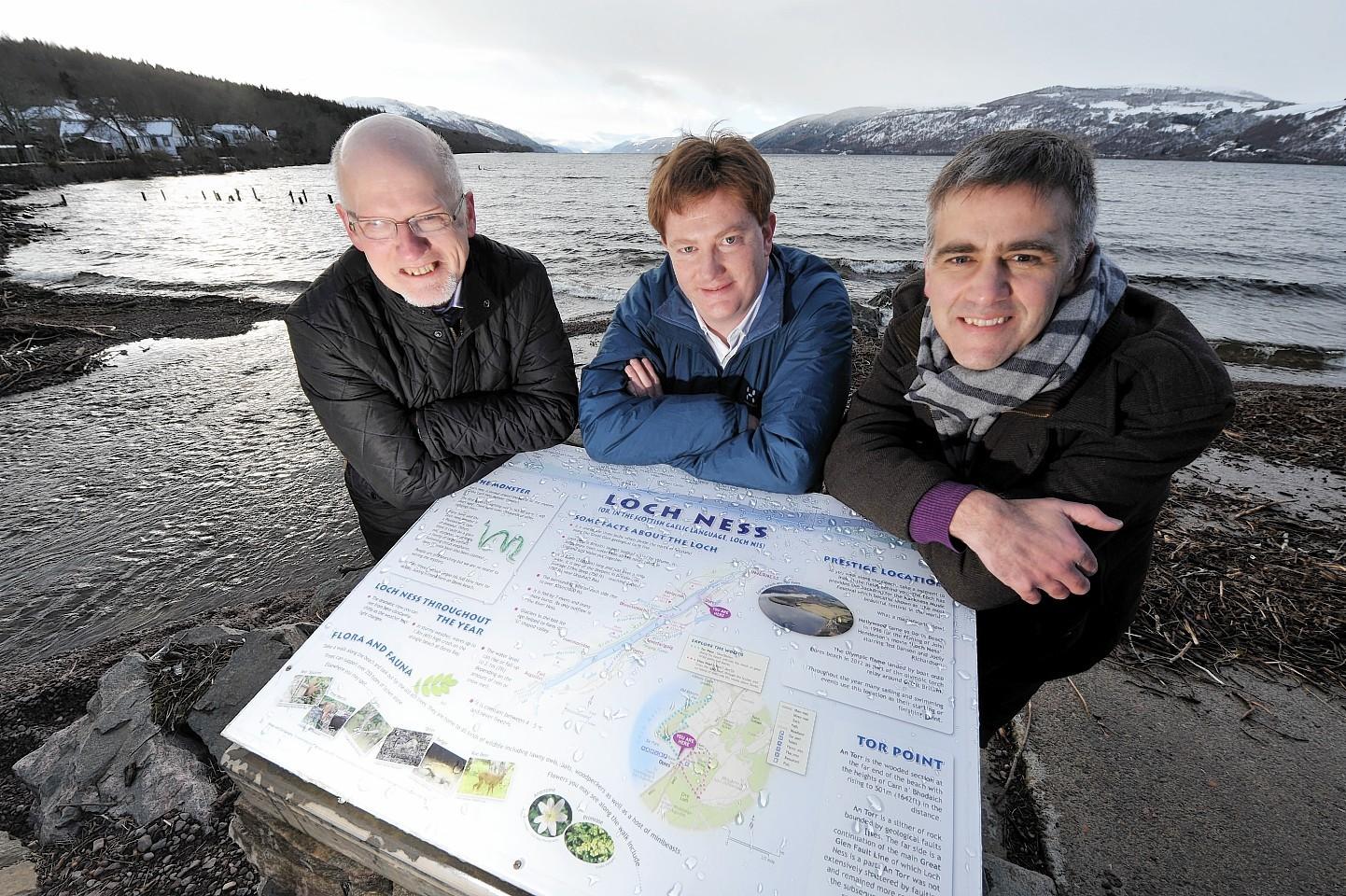 Danny Alexander at Loch Ness