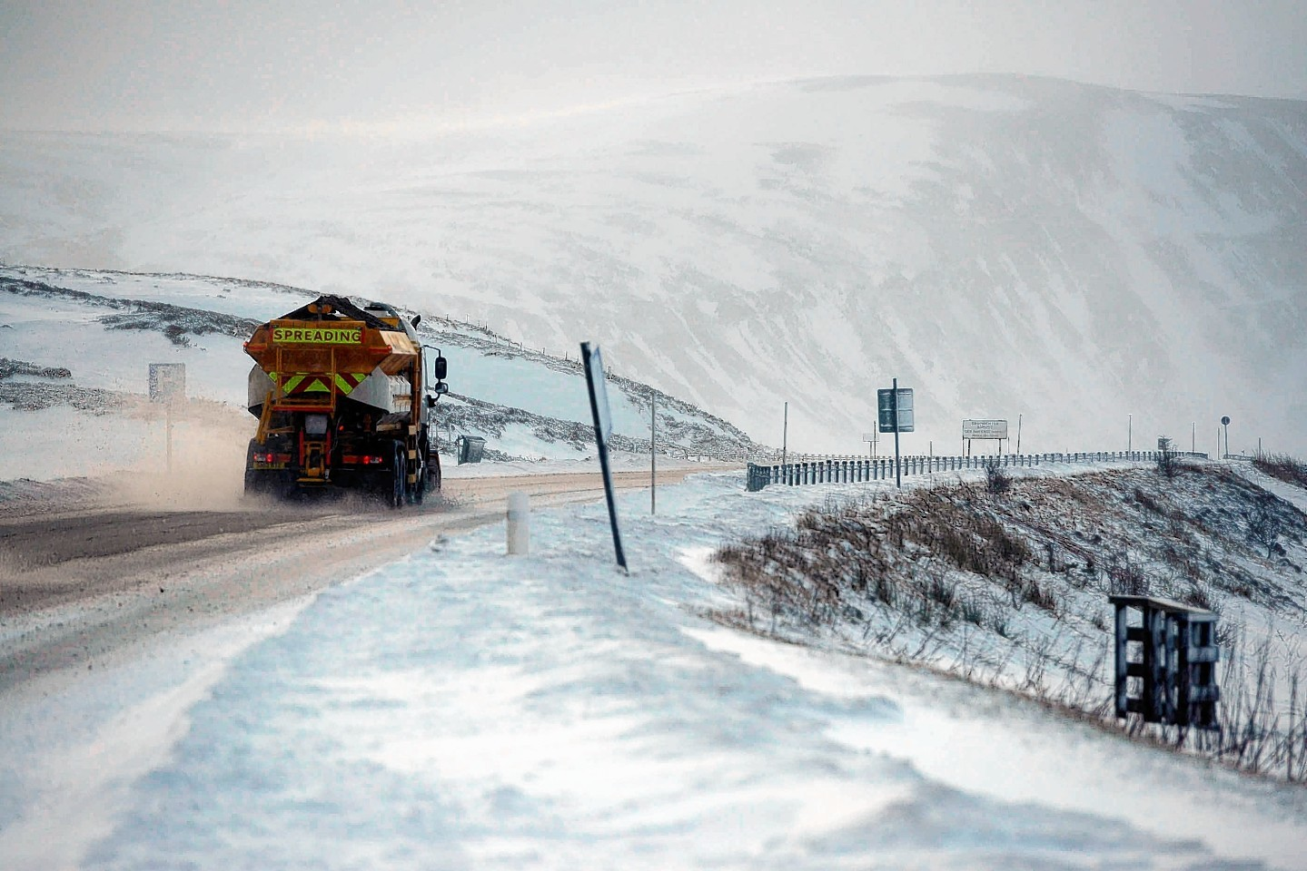 The A9 is shut at Drumochter