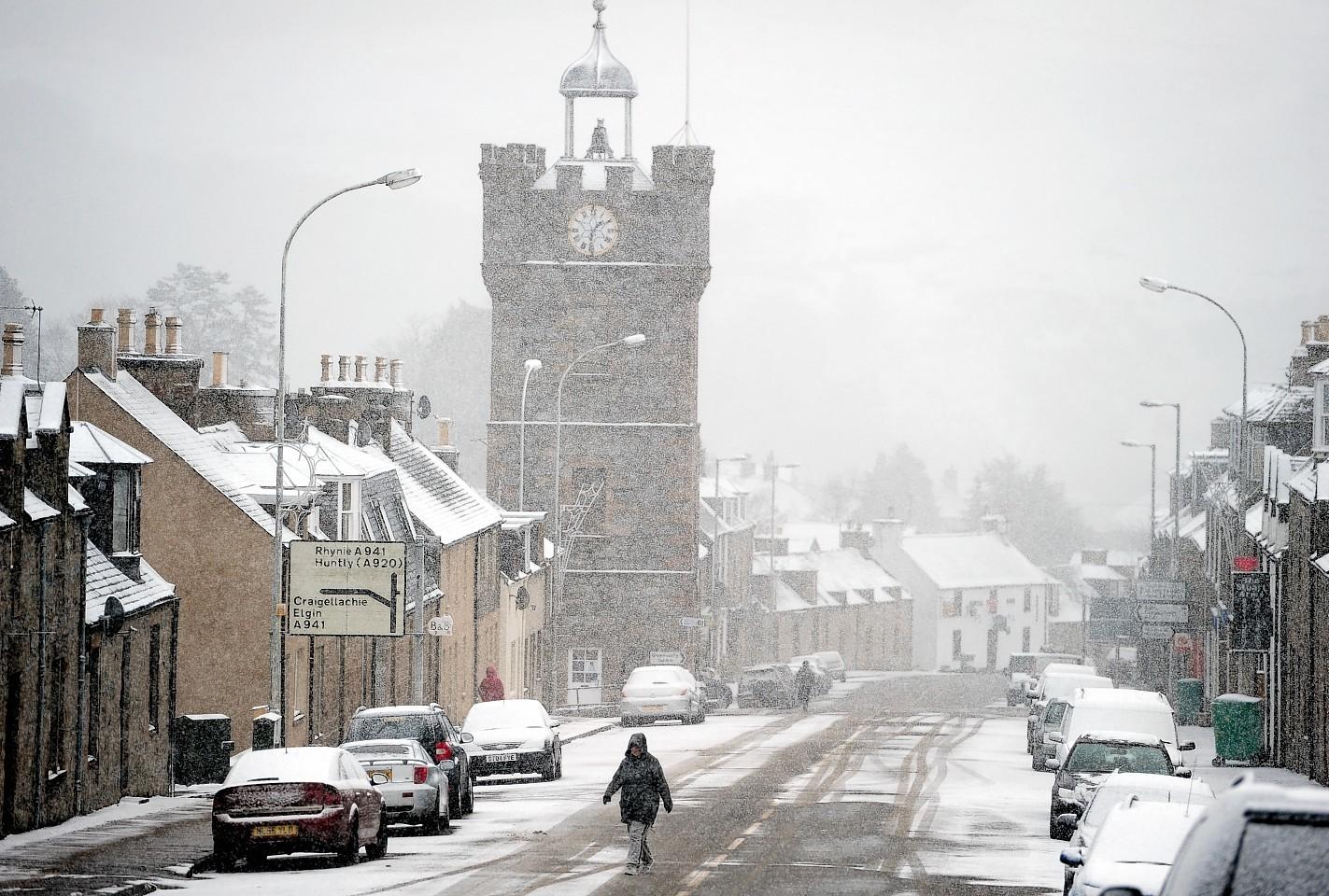 Snow in Dufftown