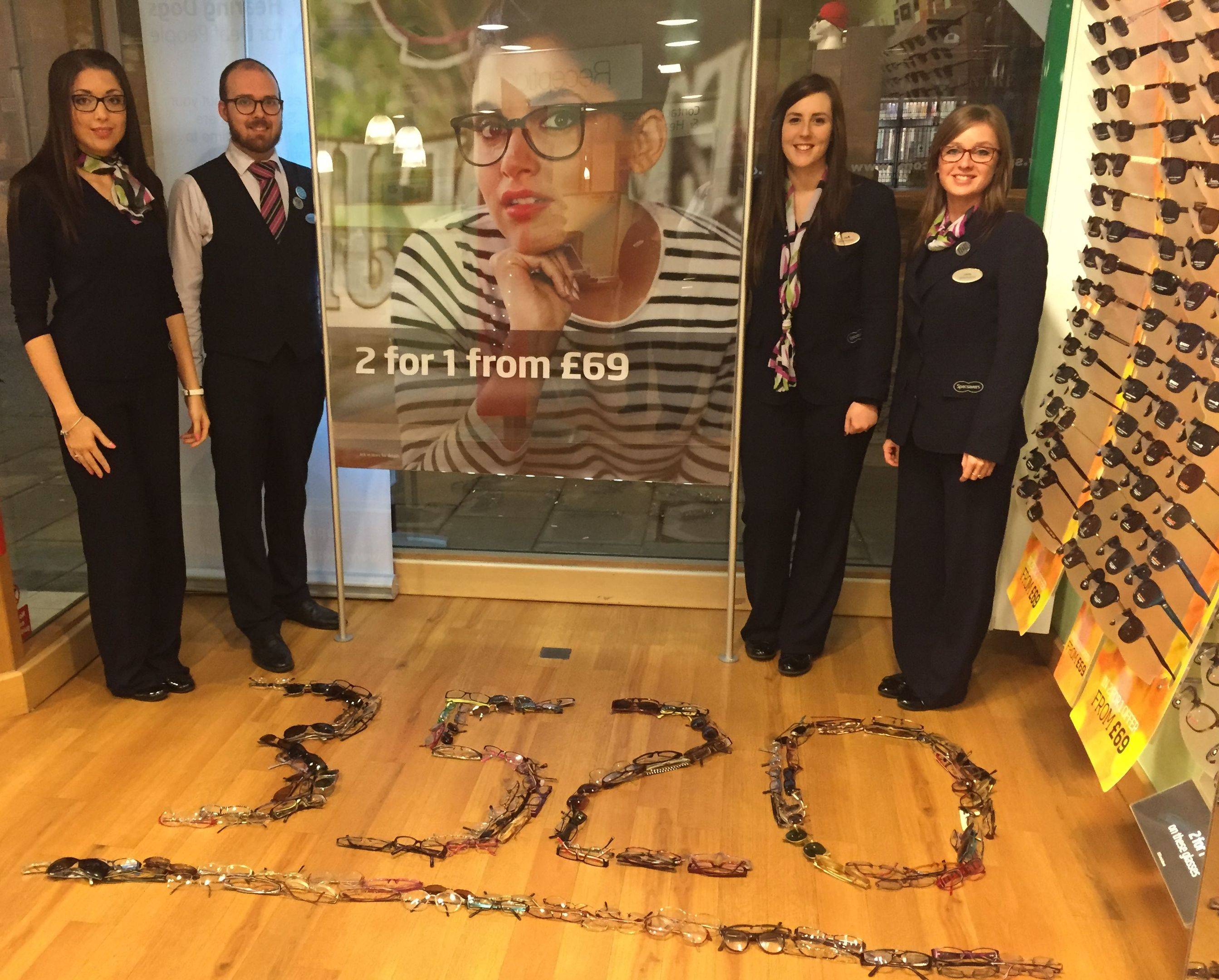 Last year's specs appeal garnered 3,520 pairs of glasses.