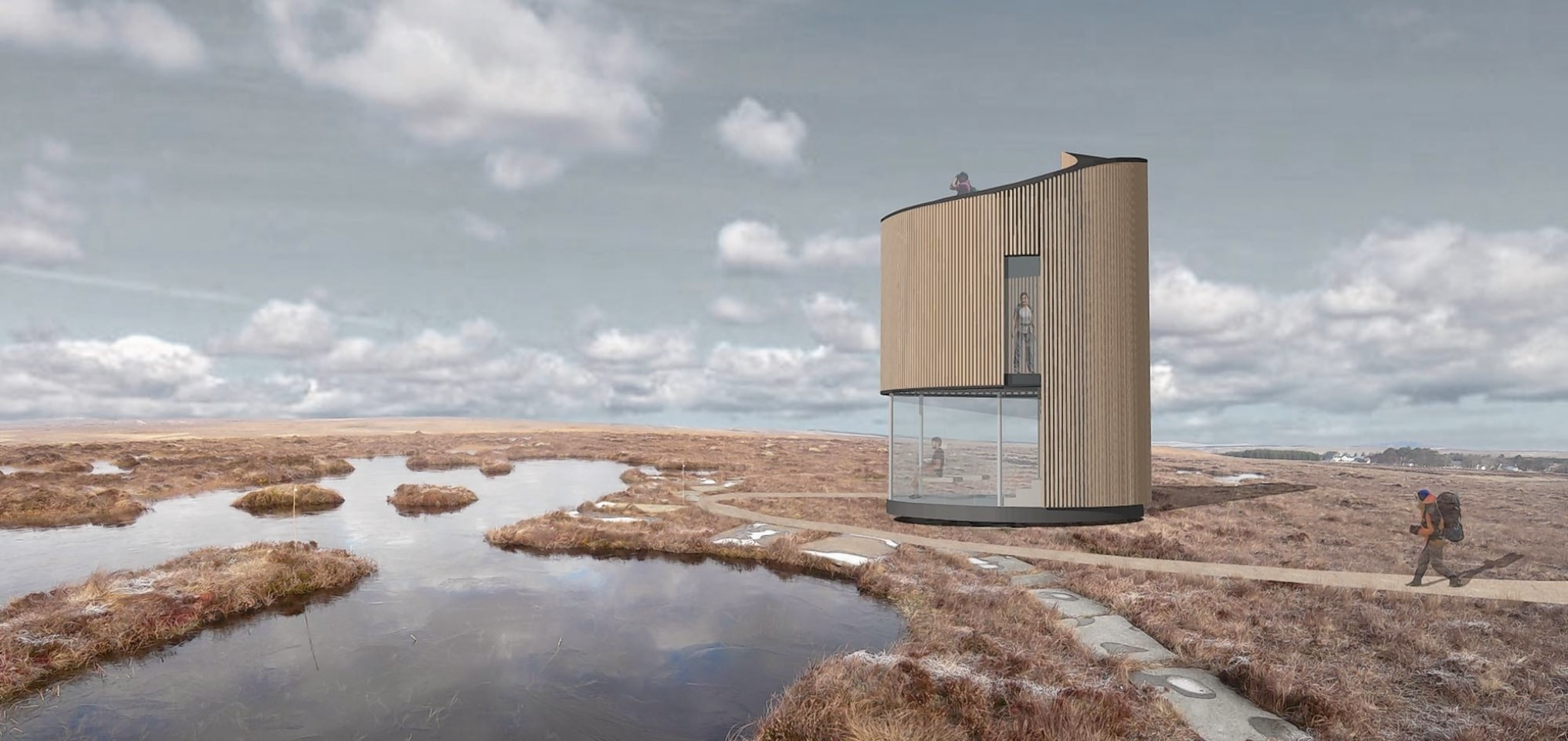 An artist's impression of the RSPB's planned observatory