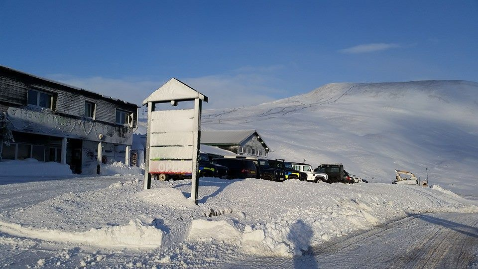 Glenshee this morning, covered in snow