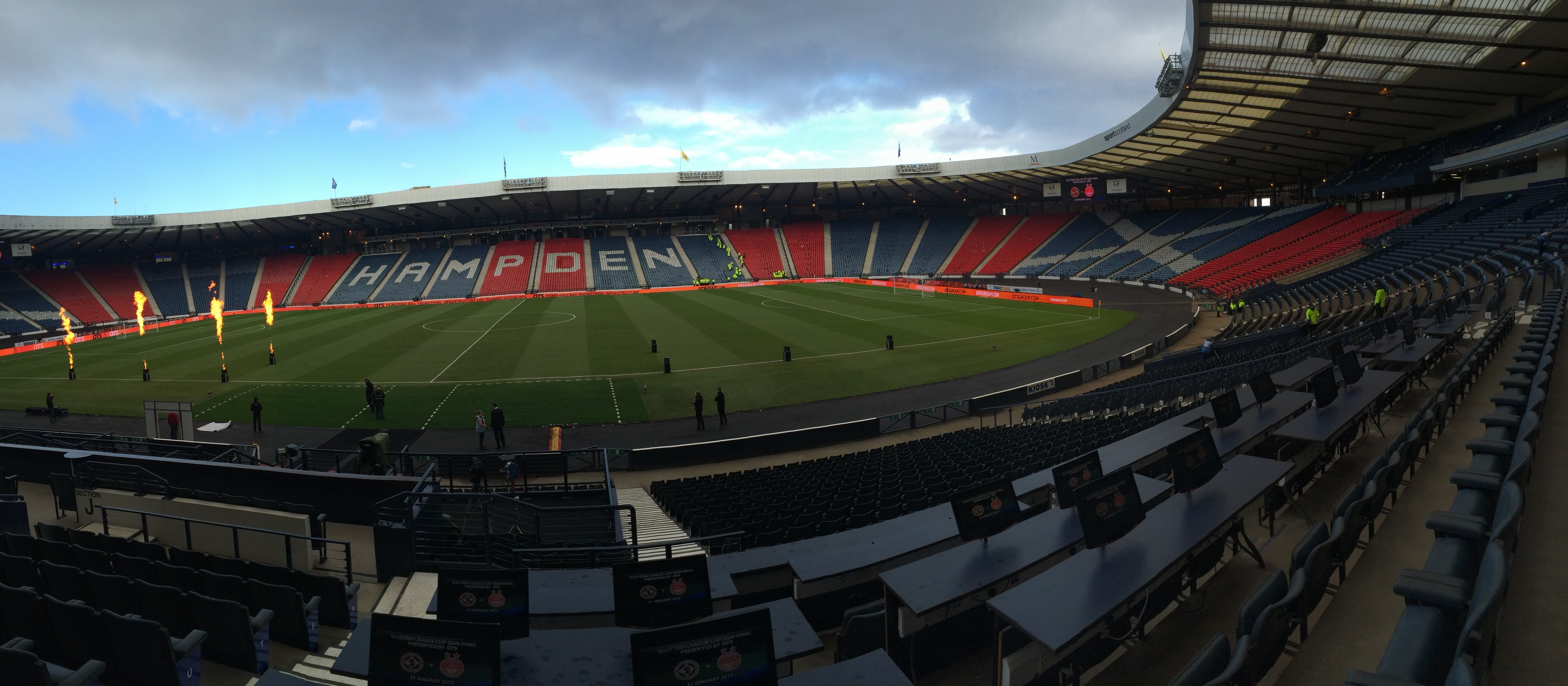 Welcome to Glasgow! Hampden looking glorious and ready for action.