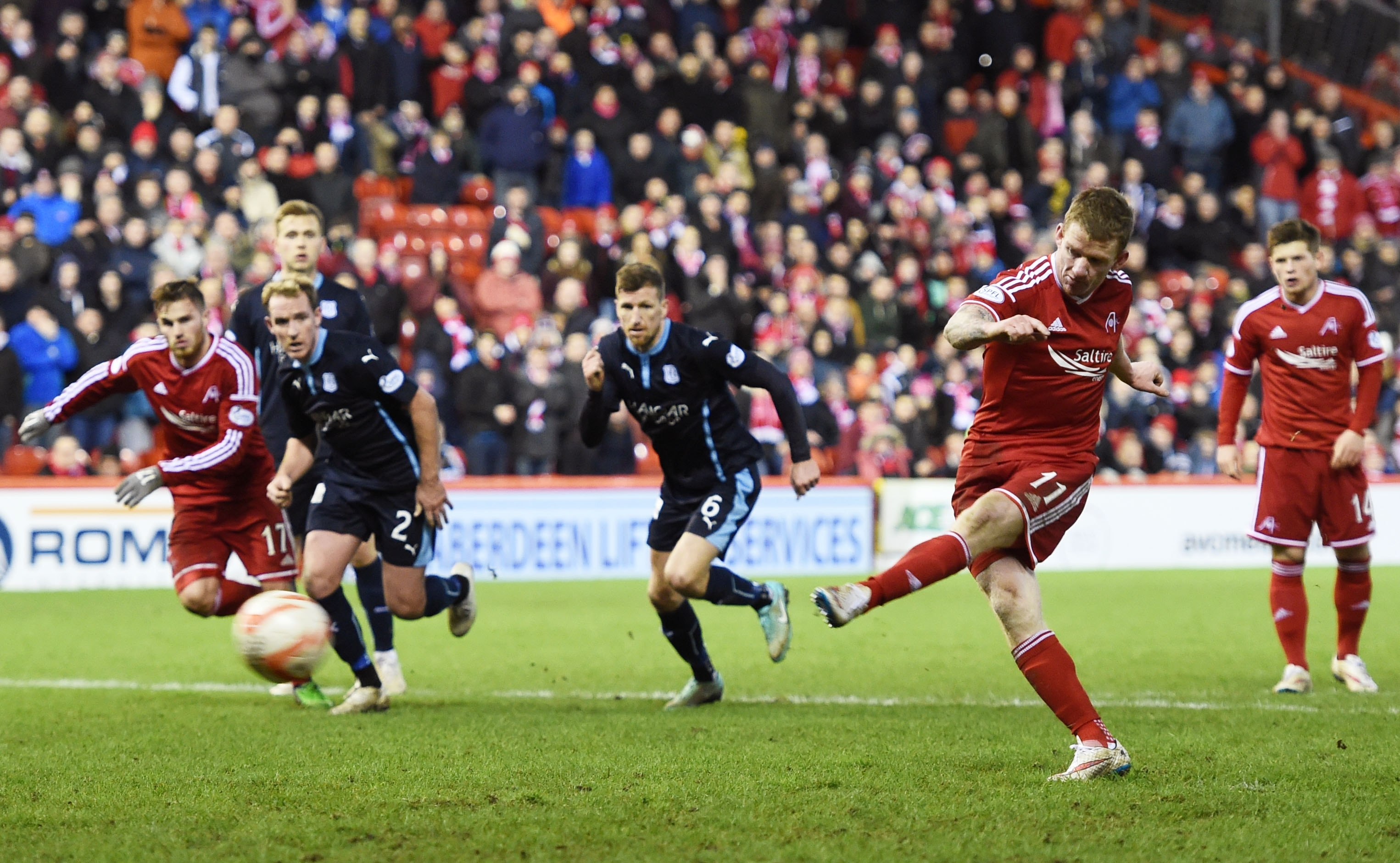 Jonny Hayes fired home from the penalty spot to bring the scores back to 3-2 before Ryan Jack's dramatic equaliser