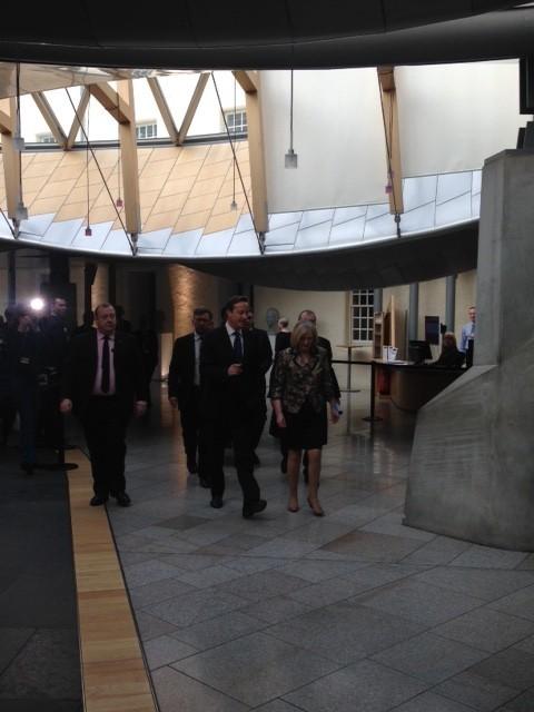 David Cameron in Holyrood