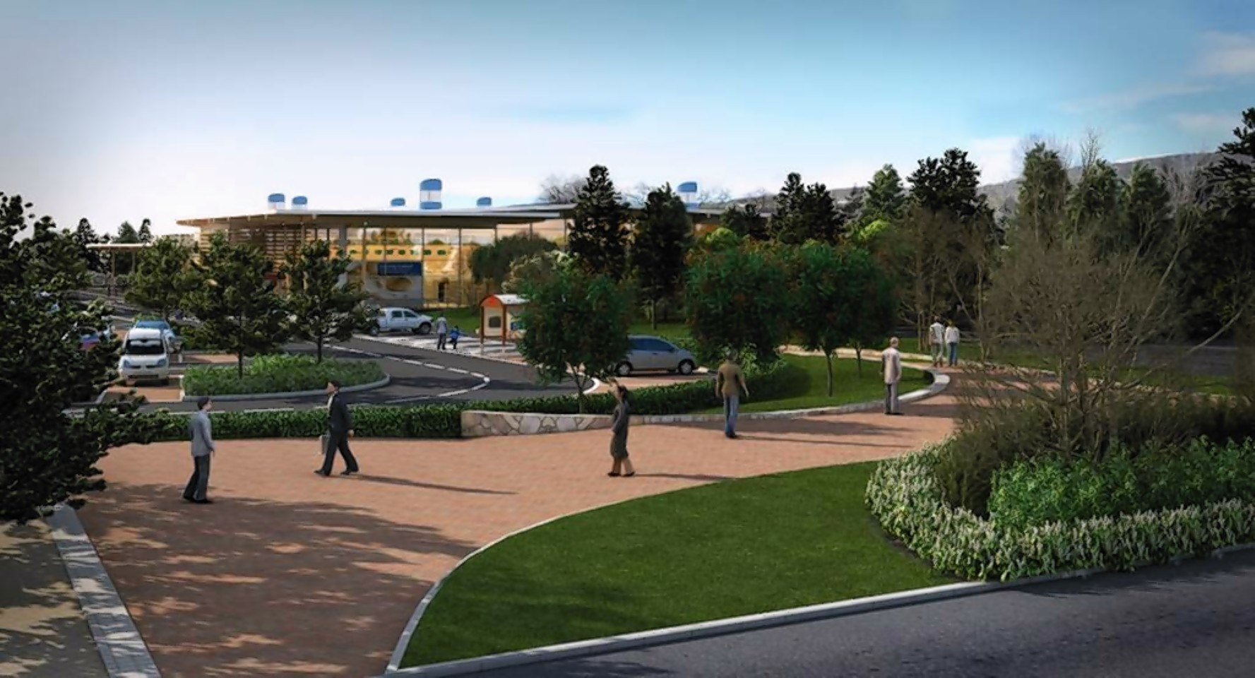 An artists impression of how the Tesco in Aviemore may have looked