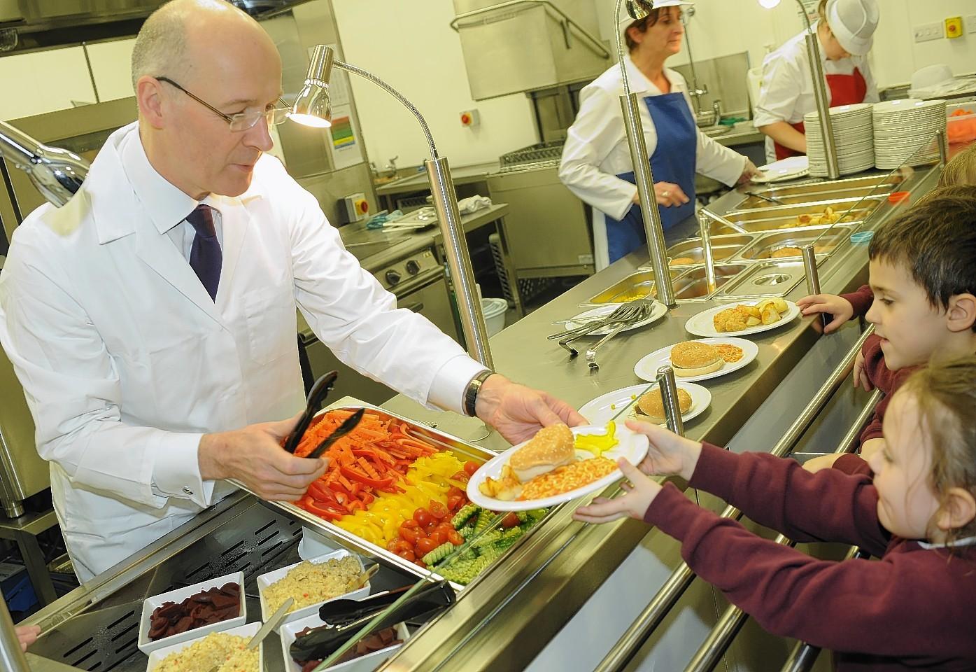 John Swinney serves up lunch