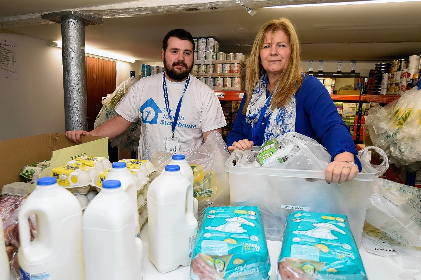 Plans were put in place for a food bank for those affected
