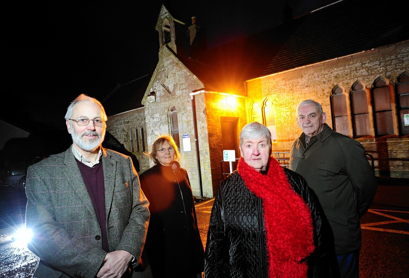 Howe of the Mearns Heritage Club trustees Mike and Marion Robson, Moira Young and Jim Wilkie.
