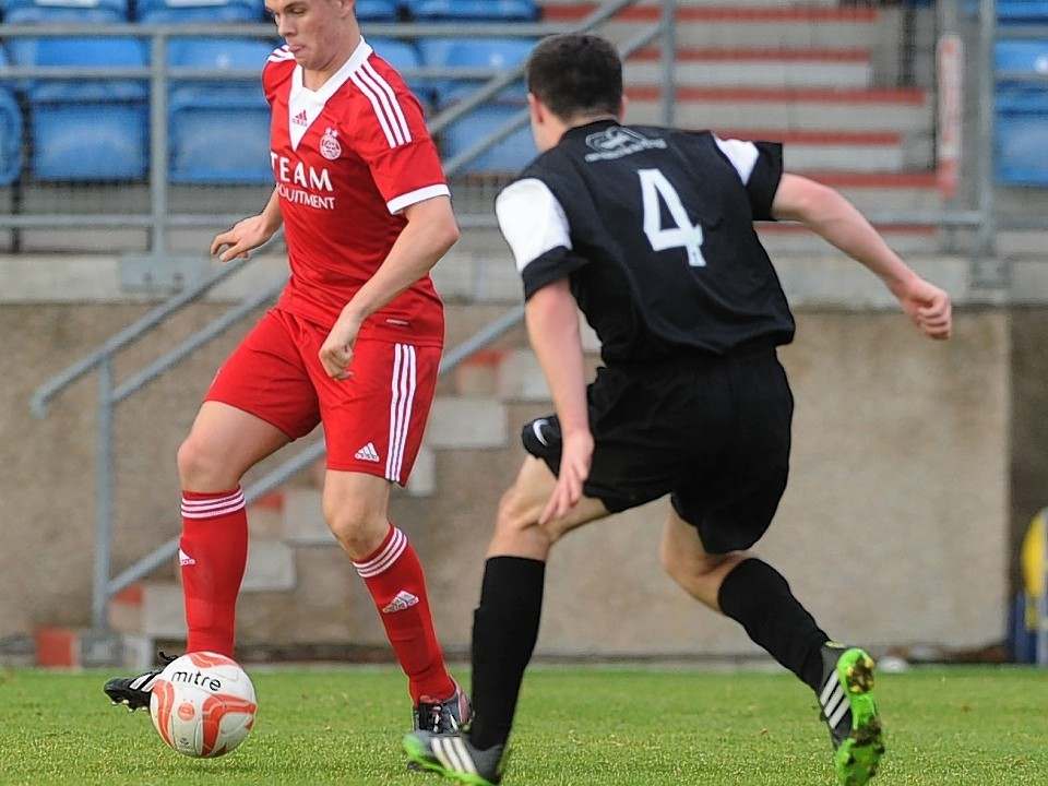 Lawrence Shankland has impressed for the Dons youths and now he is looking to make his mark in the first team
