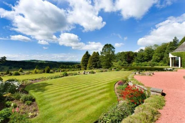 The garden with a stunning a view
