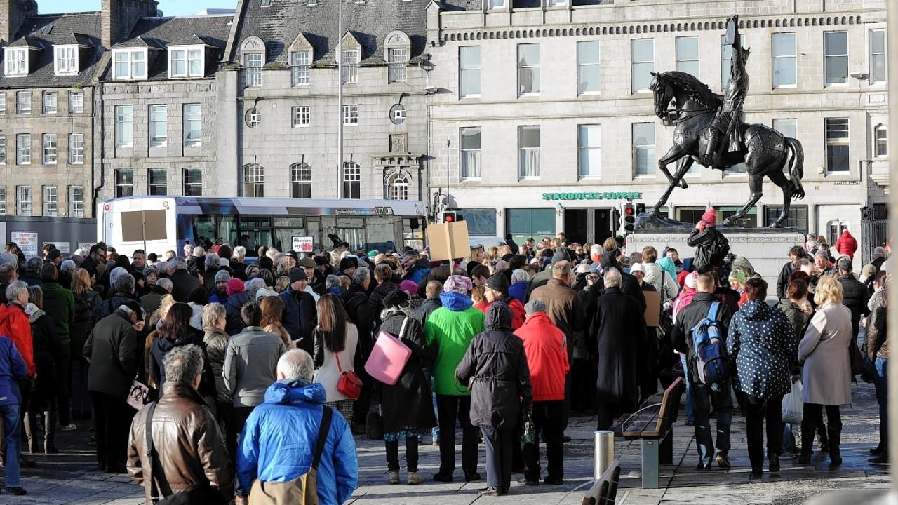Marischal Square demonstration on Saturday