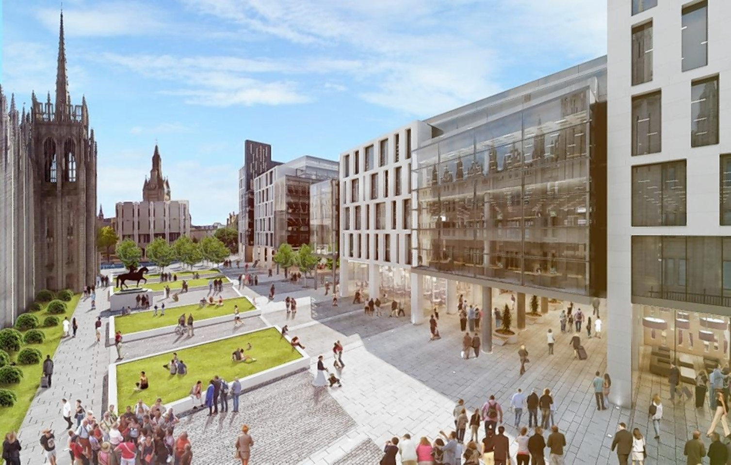 Nicola Sturgeon has urged people to use the ballot box to express their disapproval of the council's handling of the Marischal Square development.