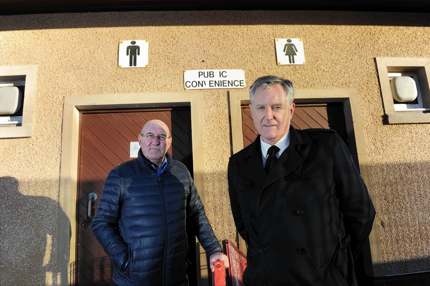 Mike Mulholland, chairman of the community council and Moray councillor John Cowe