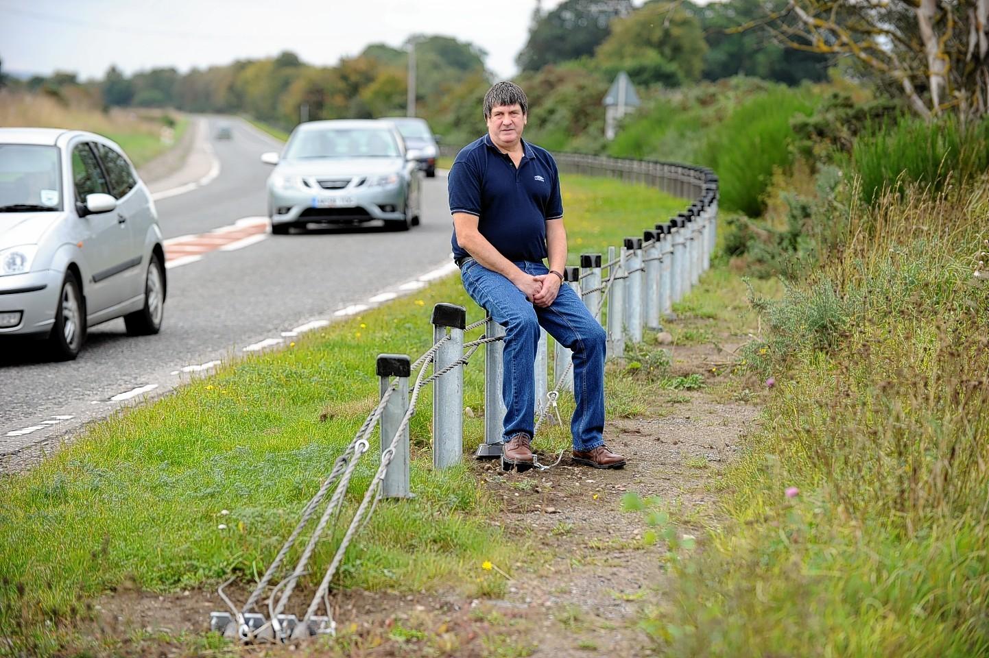 Neil Jeronim on the Moray cycle path
