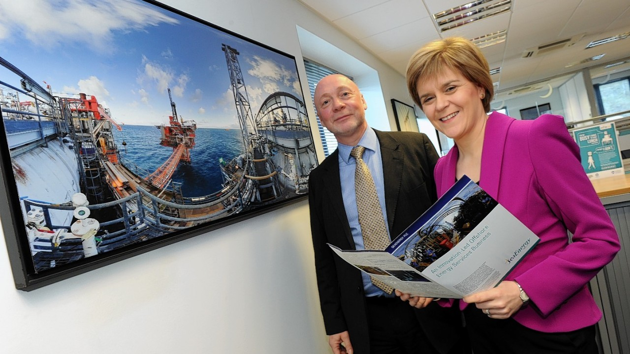 First Minister Nicola Sturgeon during her visit to Sea Energy Ltd at Britannia House, Westhill.