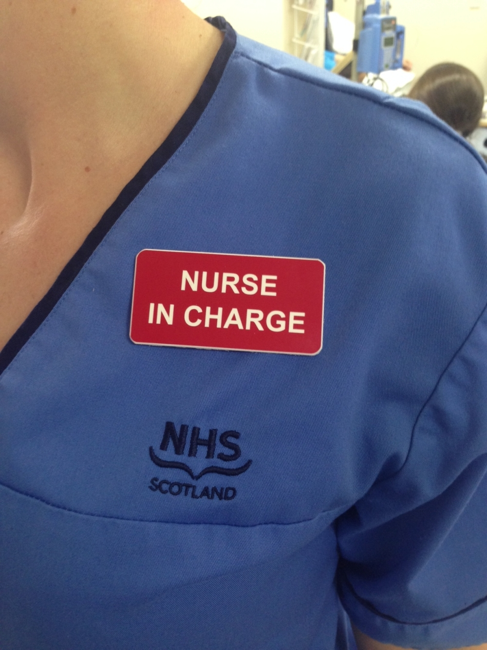 Red badges will clearly identify the nurse in charge