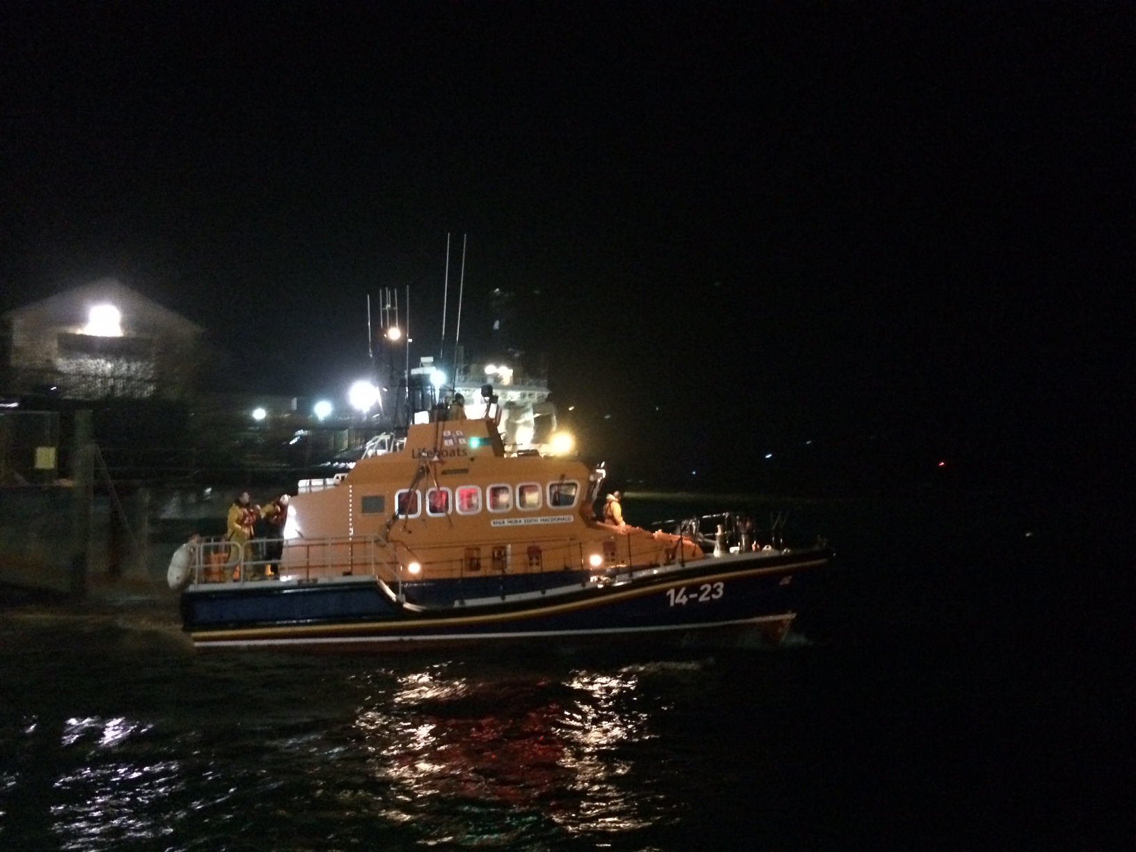 The Oban Lifeboat was out last night.