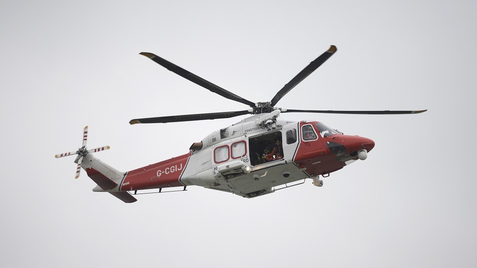 Residents fear a stricken helicopter could hit their homes