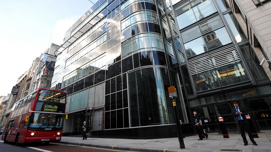Goldman Sachs' offices in London's Fleet Street