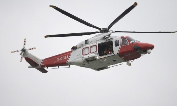 The Shetland coastguard helicopter was dispatched.