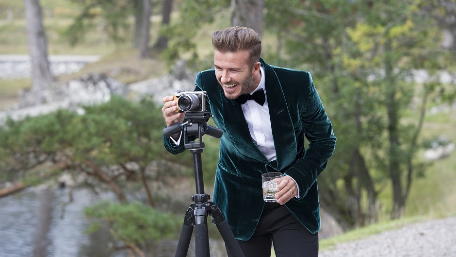 David Beckham during filming of a Diageo advert, directed by Guy Ritchie, for its single grain Scotch whisky, Haig Club.