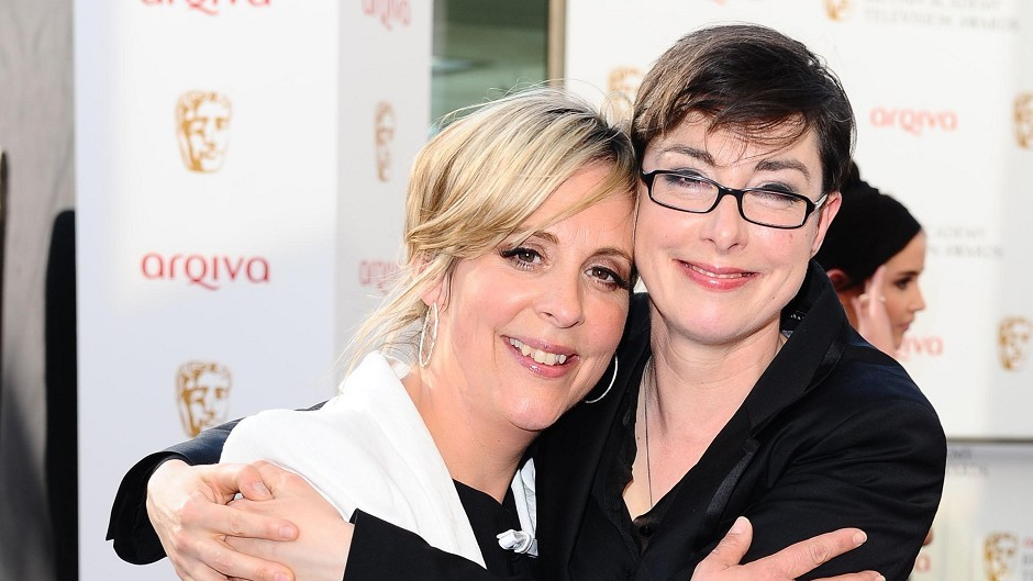 Mel Giedroyc and Sue Perkins present the Great British Bake Off