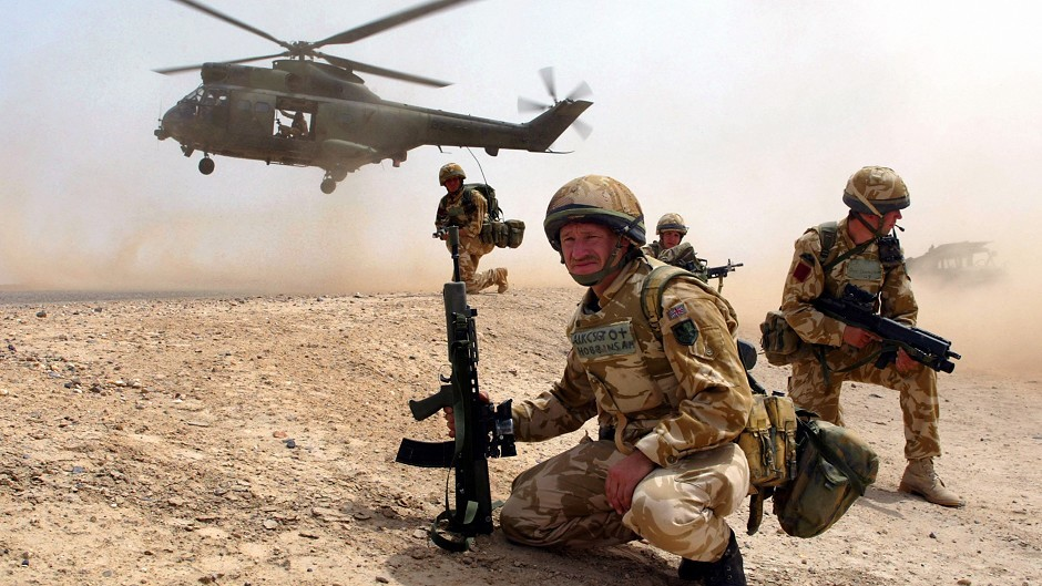 British troops in action in the Iraq war