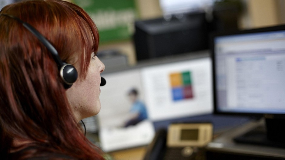 An NSPCC helpline adviser