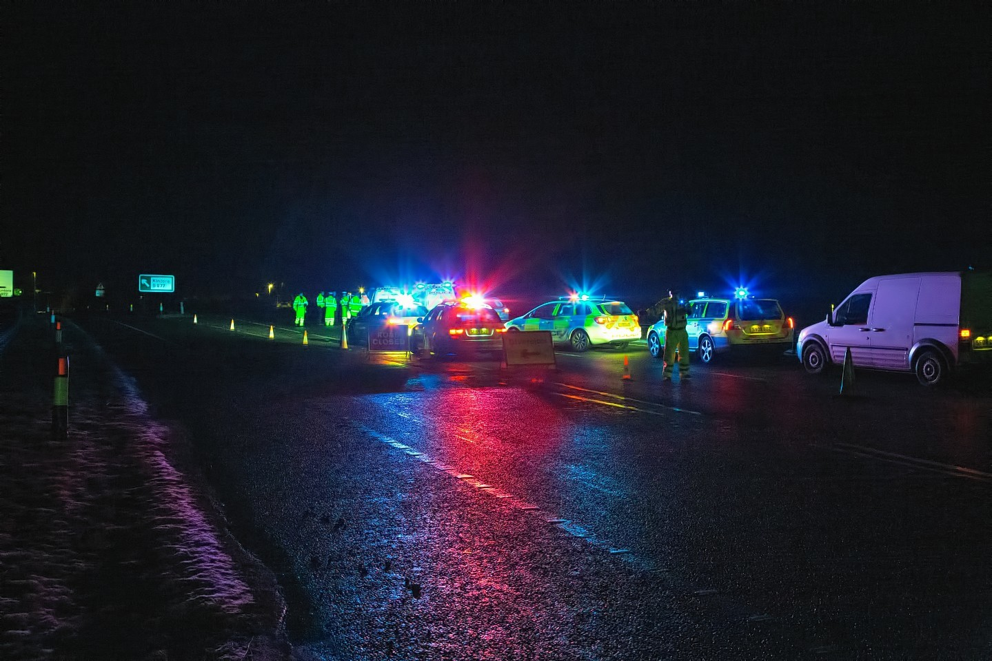 The A96 has reopened following a fatal accident