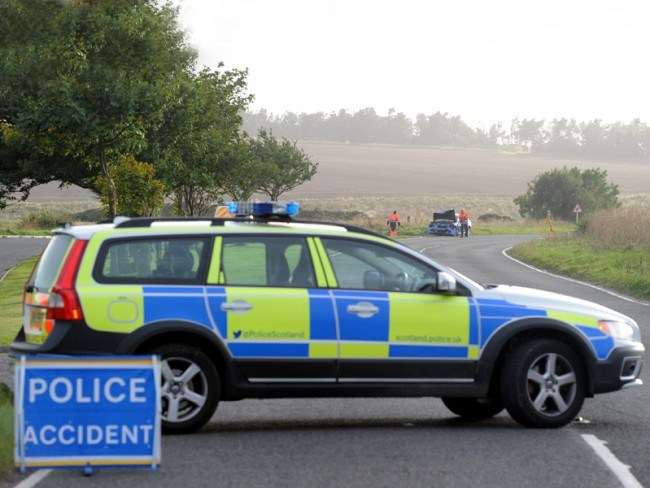 Police say the B979 is currently blocked