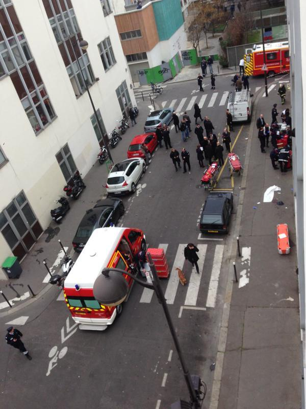 The scene of the shooting in Paris