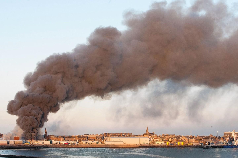 Peterhead fish factory fire