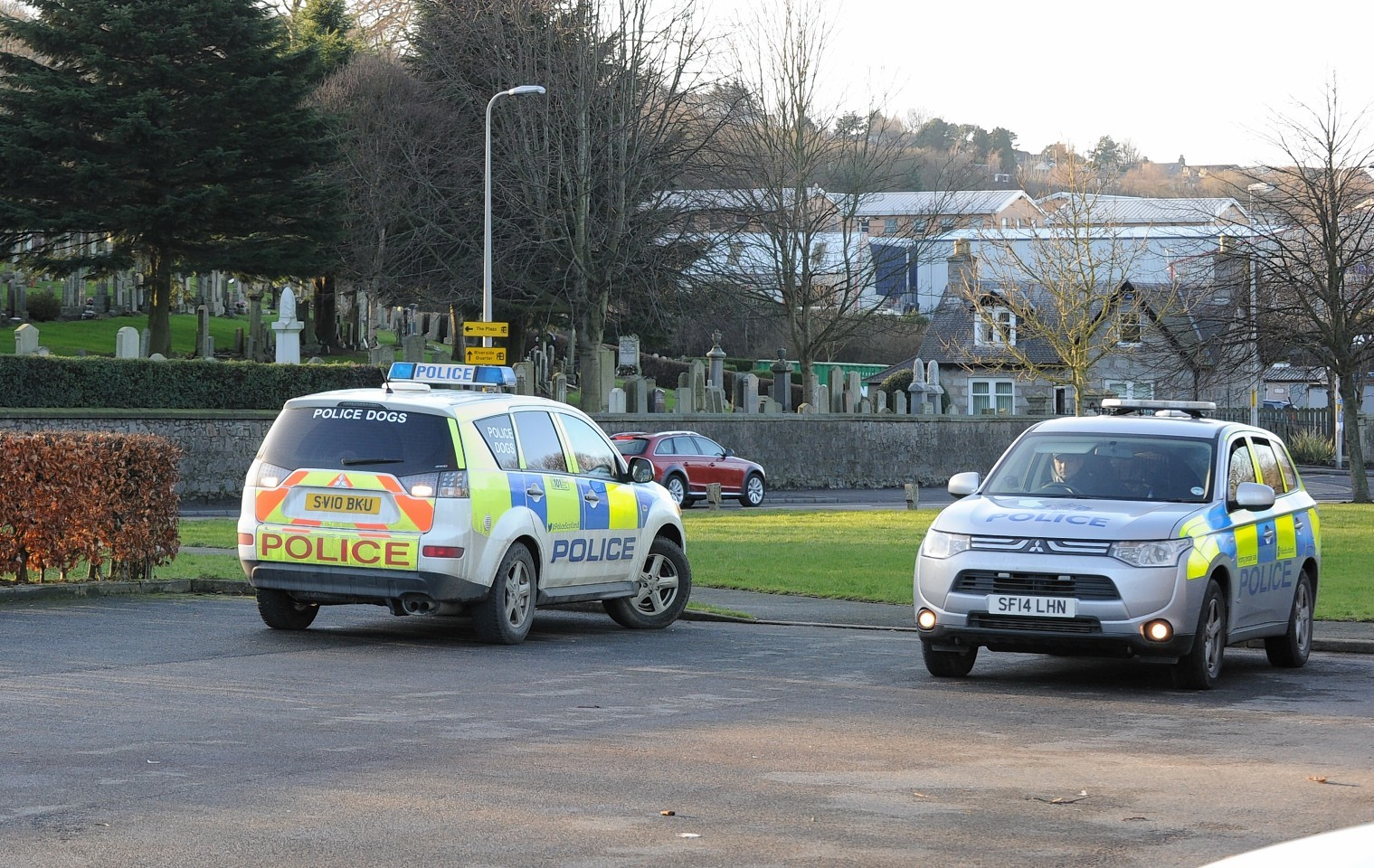 Police at the incident near the River Don