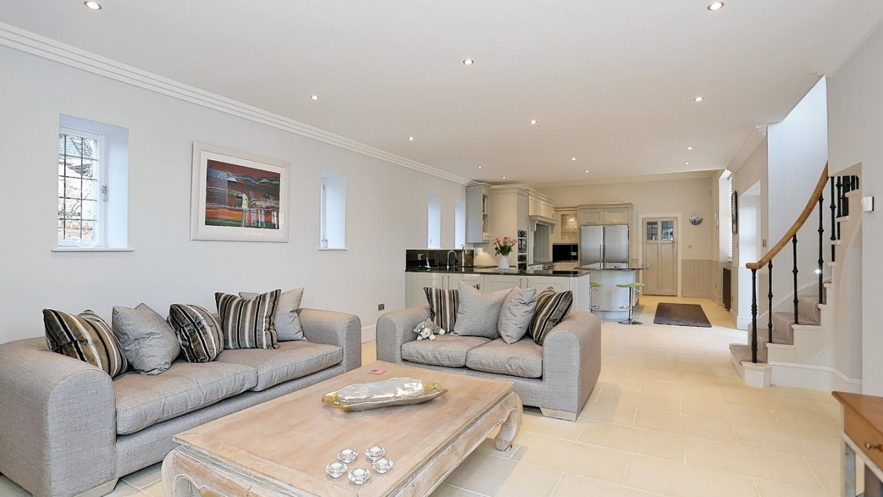 The stunning interior of Rubislaw Den North home