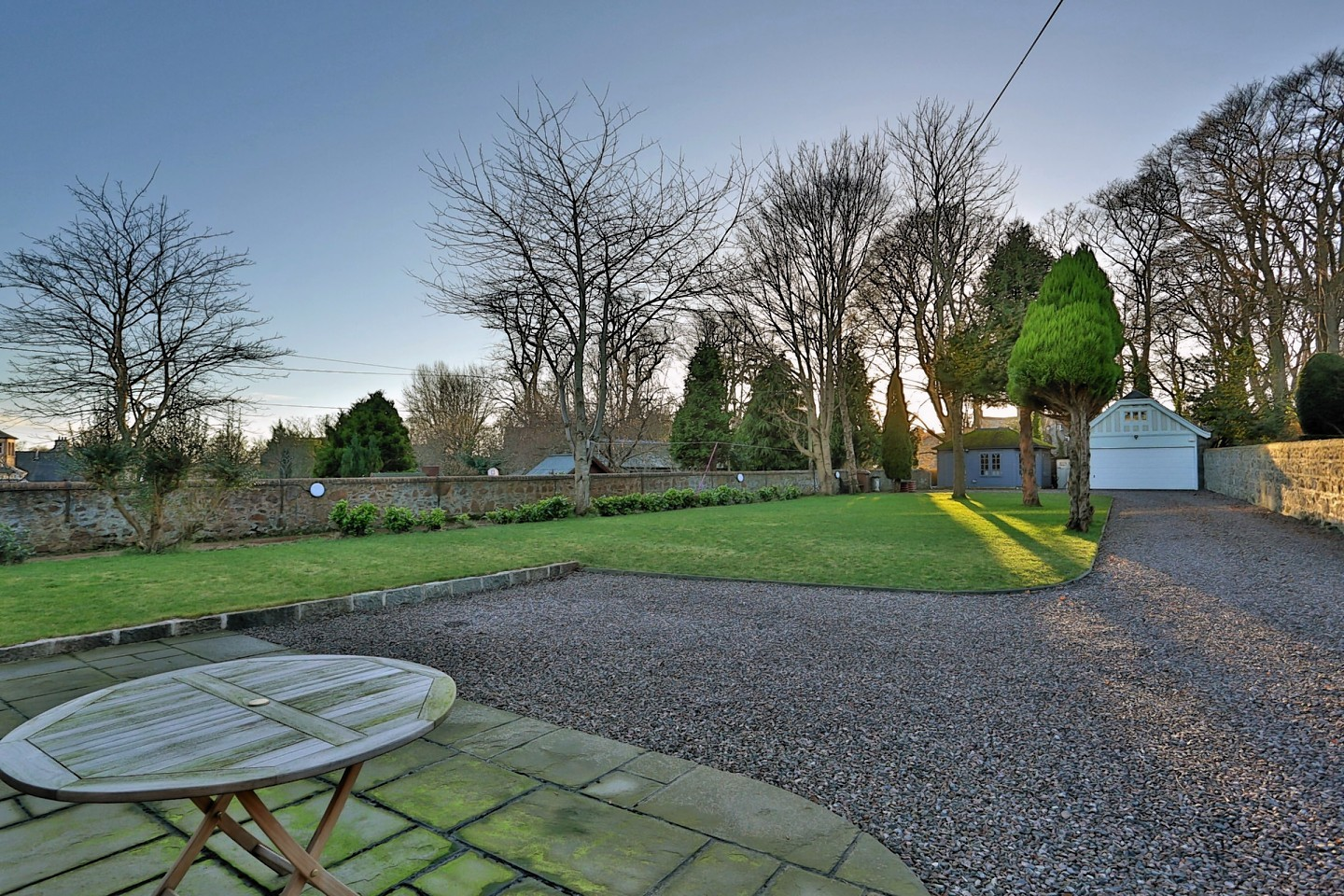 The gardens of Rubislaw Den North home
