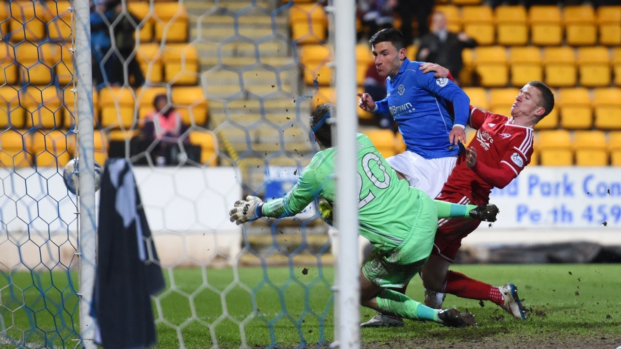 Scott Brown late double save ensured the Dons left Perth with a point