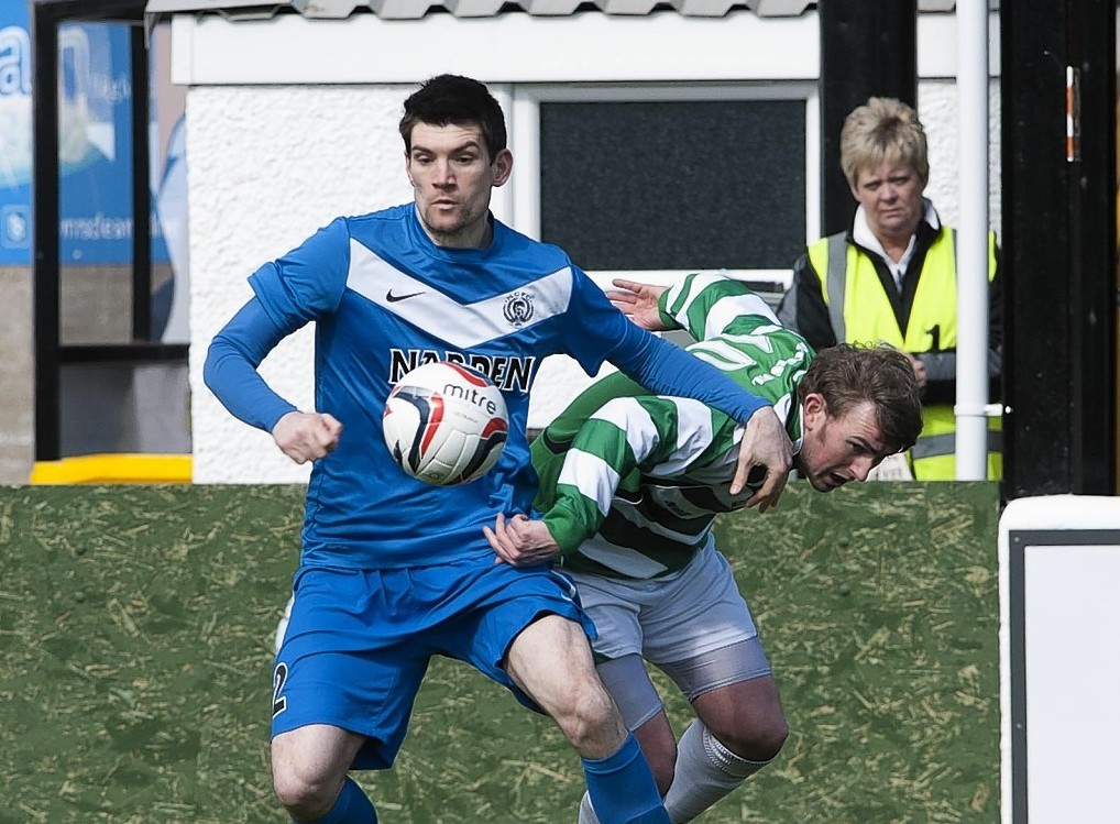 Sean Webb holds onto the ball
