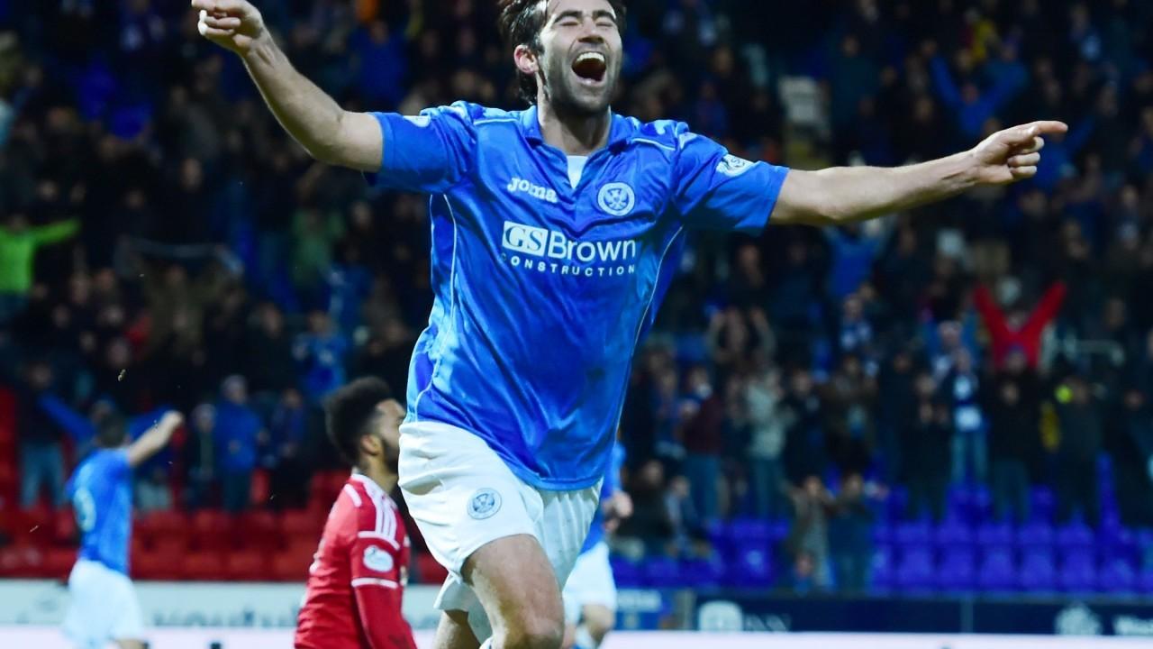 Simon Lappin celebrates the opening goal