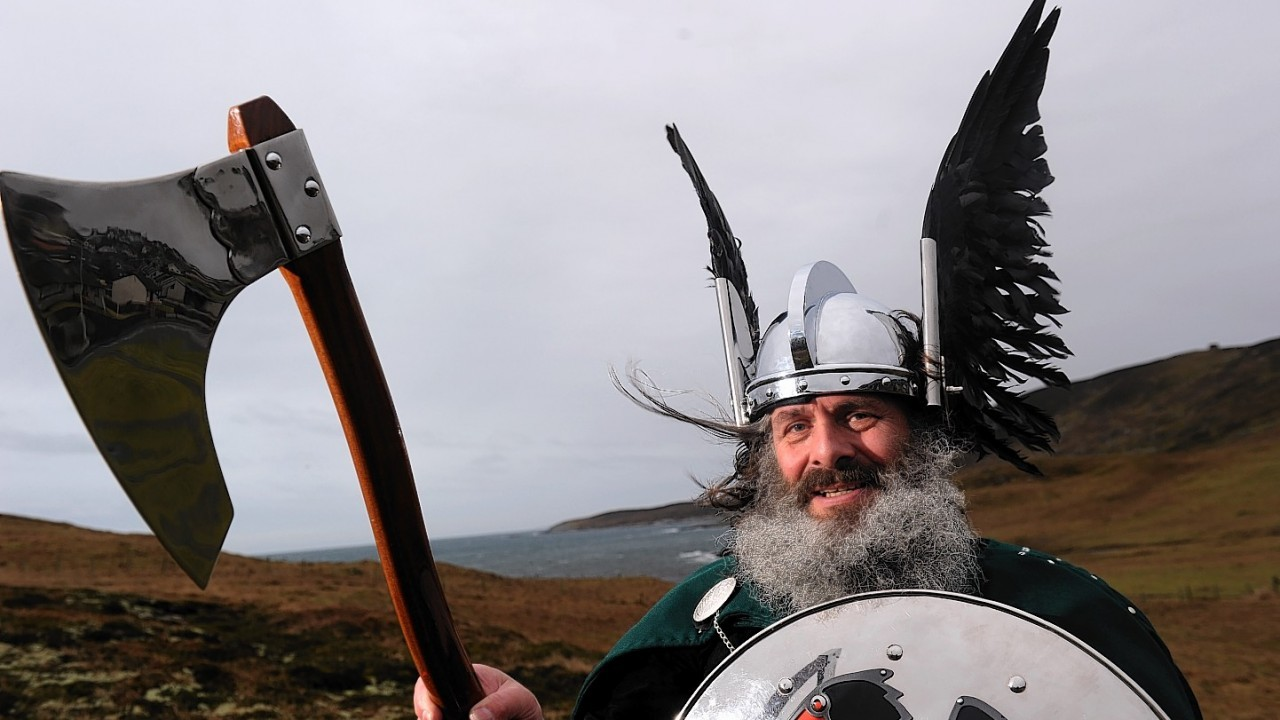 Up Helly Aa Guizer Neil Robertson (pictures by Kenny Elrick)
