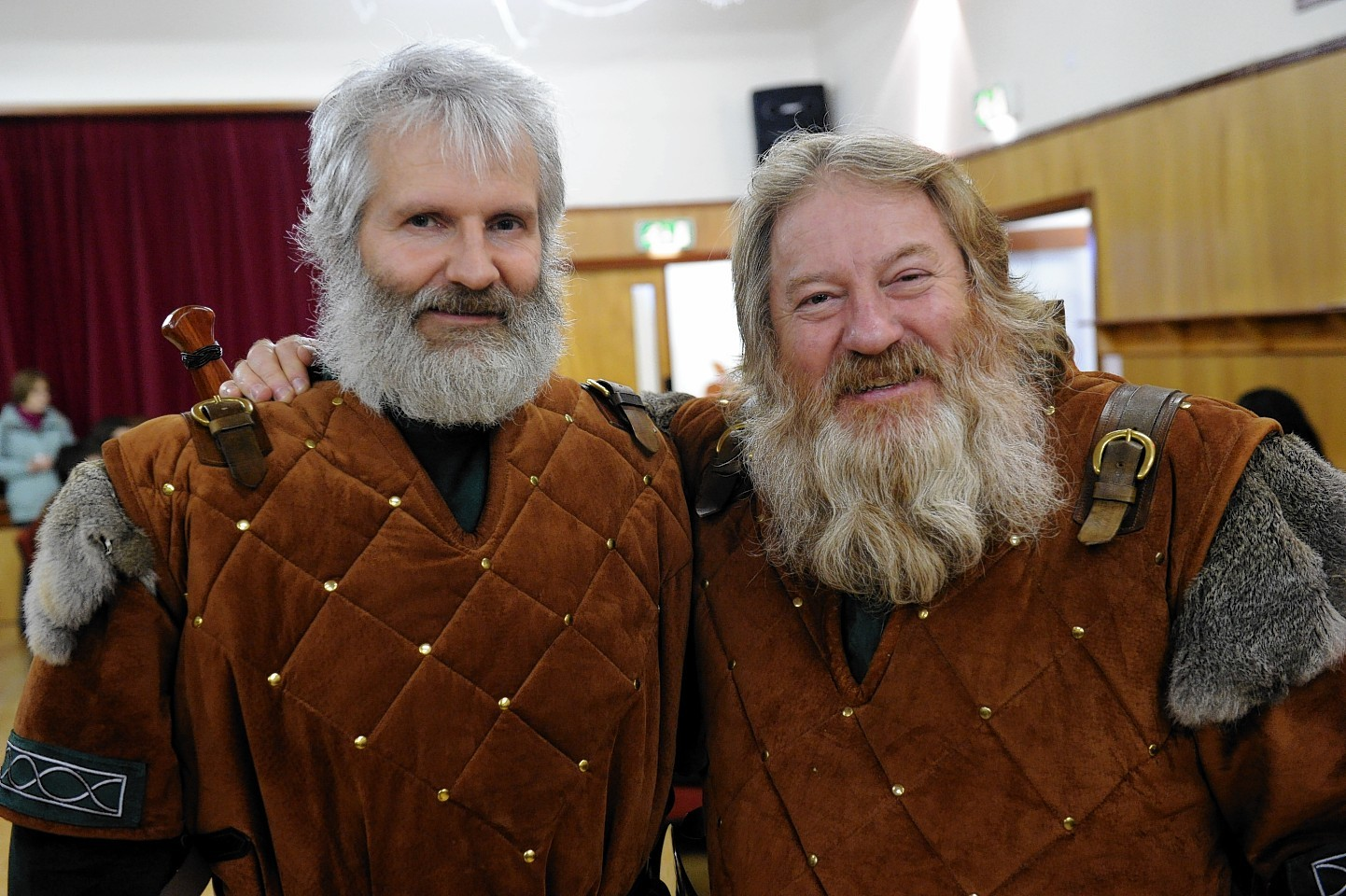 Laurence Reid and Andy Miller at Up Helly Aa