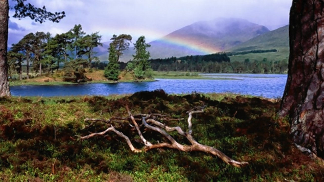 Visit Scotland photographic awards: Rainbow over Loch Tulla by Craig Aitchison