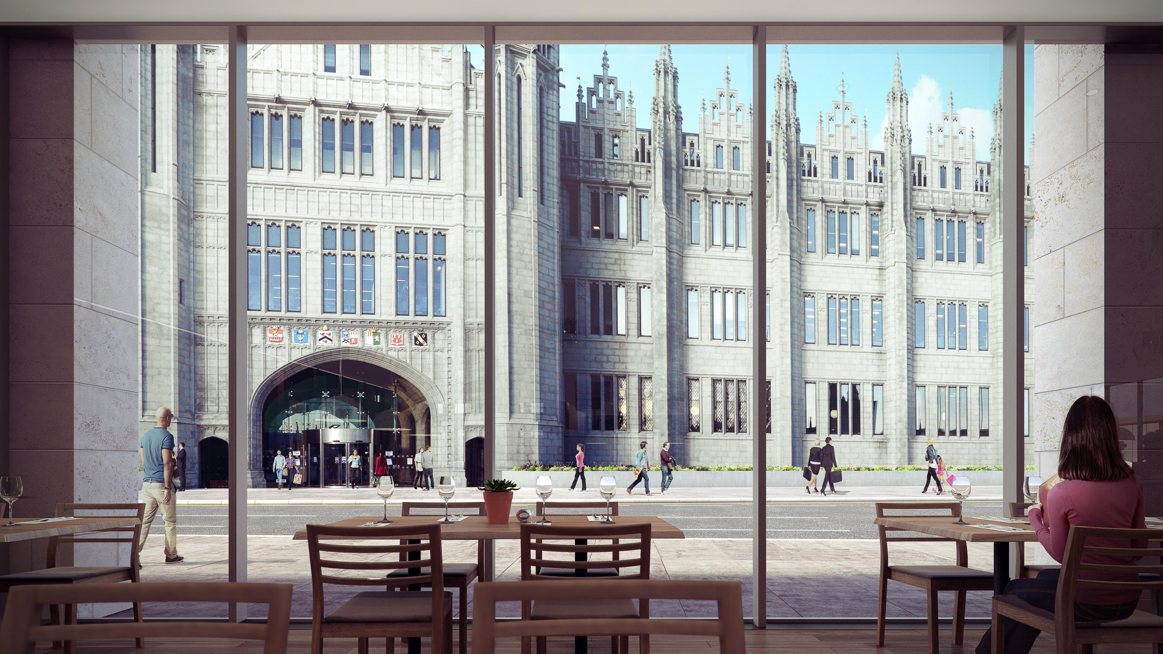 New images from Muse Developments show how Marischal College might look from the site